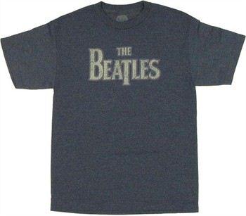 Beatles Logo Distressed T-Shirt