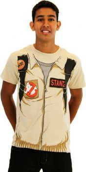 Ghostbusters Executioner Stantz Full Costume with Backpack Print Sand Adult T-shirt