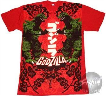 Godzilla Mirrored T-Shirt
