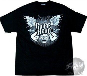 Guitar Hero Face Wings T-Shirt