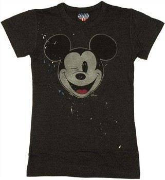 c6ff0aa7d73 ... Disney Mickey Mouse Wink Paint Splatter Baby Doll Tee by JUNK FOOD