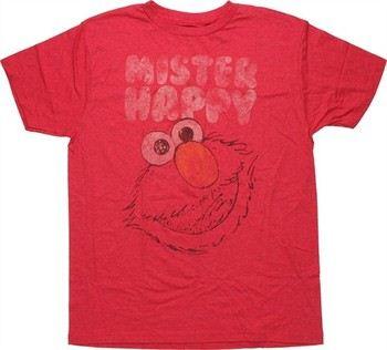 Sesame Street Elmo Mister Happy Jack of All Trades T-Shirt Sheer