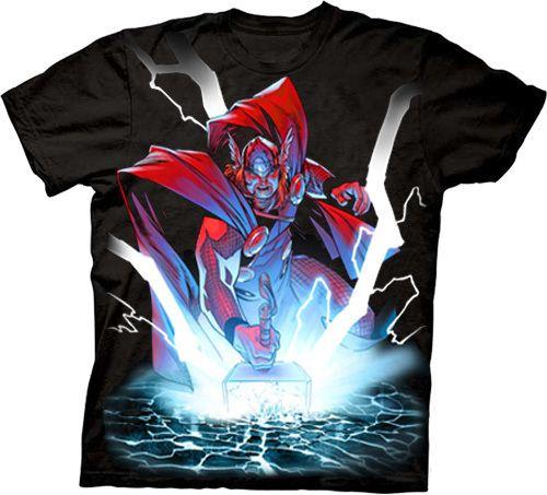 The Mighty Thor Crush Black T-shirt