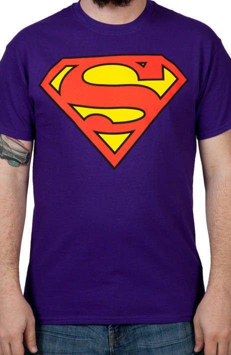 Purple Superman Logo Shirt