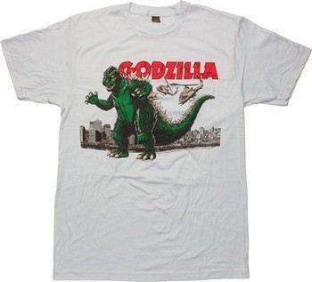 Godzilla Helicopter Air Strike T-Shirt Sheer