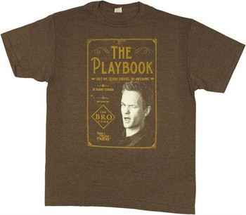 How I Met Your Mother The Playbook Suit Up Score Chicks Be Awesome by Barney Stinson T-Shirt Sheer