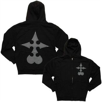 Disney Kingdom Hearts Nobody Cross Full Zipper Hooded Sweatshirt
