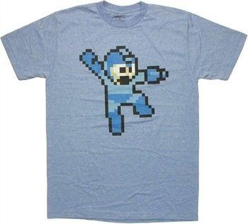 Capcom Mega Man Pixel Jump T-Shirt Sheer