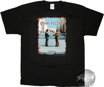Pink Floyd Wish You Were Here Album Cover T-Shirt