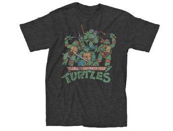 Teenage Mutant Ninja Turtles Ninjas Attack Adult Charcoal Gray T-Shirt