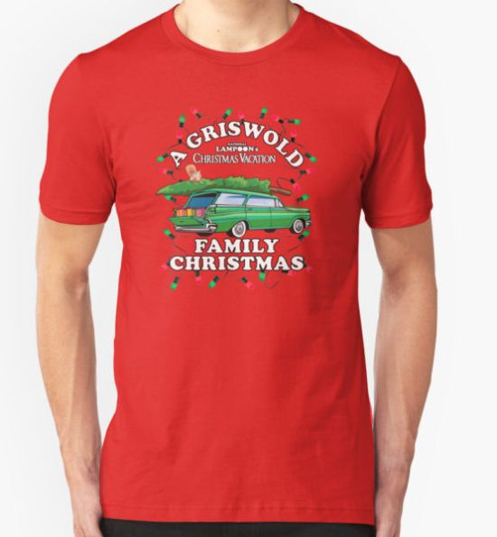 National Lampoon's - Xmas Station Wagon T-Shirt by Candywrap Design T-Shirt