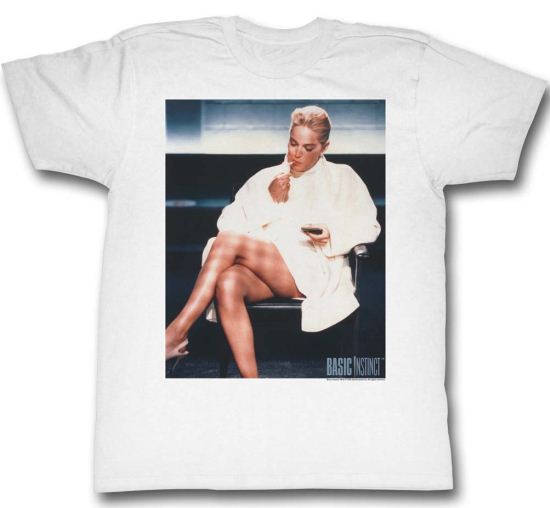 Basic Instinct Shirt Movie Poster Adult White Tee T-Shirt