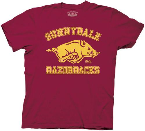 Buffy the Vampire Slayer Sunnydale Razorbacks Maroon Adult T-shirt