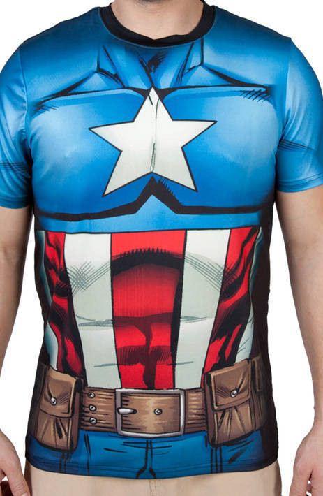 Captain America Costume Shirt