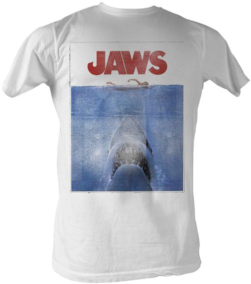 JAWS Poster White Adult T-shirt