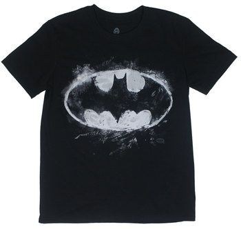 Batman Chalk Logo - DC Comics T-shirt