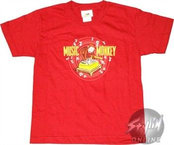 Curious George Music Monkey T-Shirt