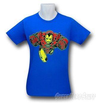 Iron Man Forward Flight Blue 30 Single T-Shirt
