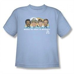 The Love Boat Shirt Wave Of Romance Youth Light Blue T-Shirt