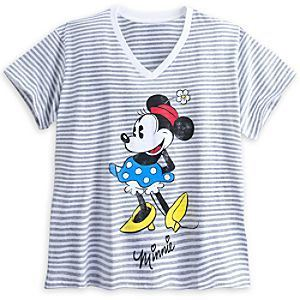 8dd33140c ... Minnie Mouse Striped Tee for Women - Plus Size