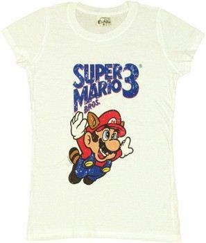 69728699b ... Nintendo Super Mario Bros 3 Raccoon Suit Fly Baby Doll Tee