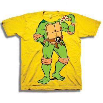 Teenage Mutant Ninja Turtles TMNT Michelangelo Headless Pizza Toddler Yellow T-Shirt