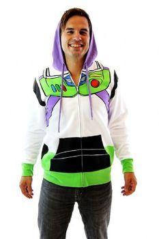Toy Story Buzz Lightyear Astronaut Adult White Costume Sweatshirt