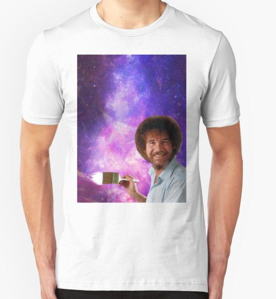 1ee60076df4 ...  Bob Ross Paints Space  T-Shirt by xMarley T-Shirt.