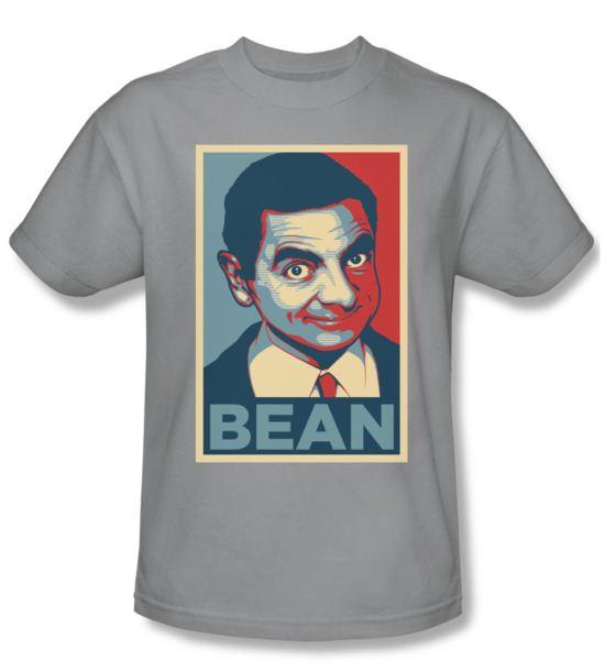 Mr. Bean Shirt Poster Adult Silver Tee T-Shirt