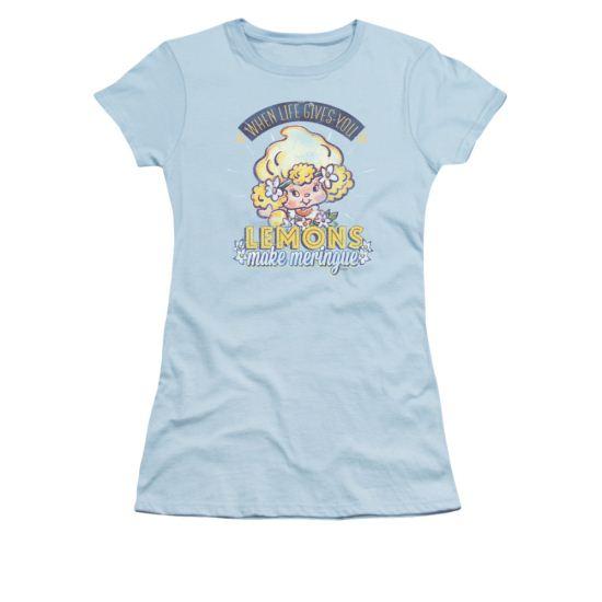 Strawberry Shortcake Shirt Juniors Make Meringue Light Blue Tee T-Shirt