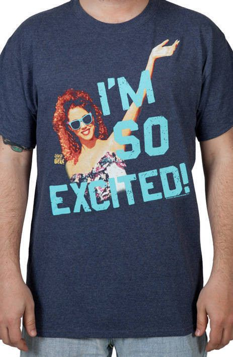 Saved by the Bell Jessie Spano I/'m So Excited Men/'s T Shirt Elizabeth Berkley