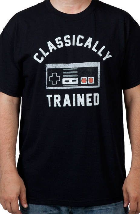 Classically Trained NES Controller Shirt