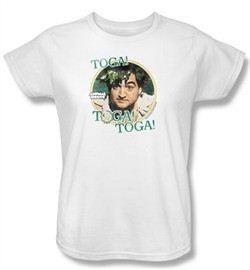 Animal House Ladies T-shirt Movie Bluto Toga White Tee Shirt