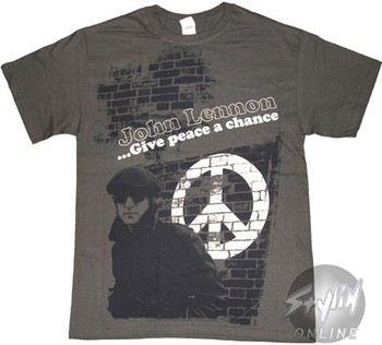 Beatles John Lennon Give Peace a Chance Music T-Shirt