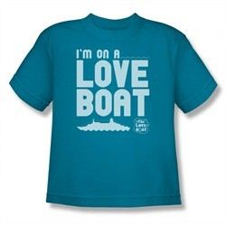 The Love Boat Shirt Kids I'm On A Love Boat Turquoise T-Shirt