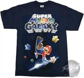 Nintendo Super Mario Galaxy Leg Up T-Shirt