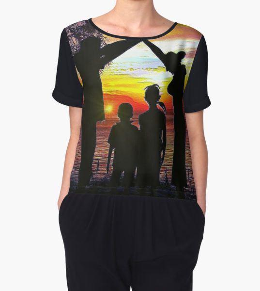 Family Ties Women's Chiffon Top by sandywv T-Shirt