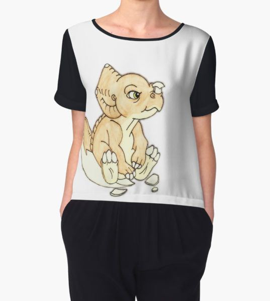 The Land Before Time: Baby Cera Women's Chiffon Top by Milly2015 T-Shirt