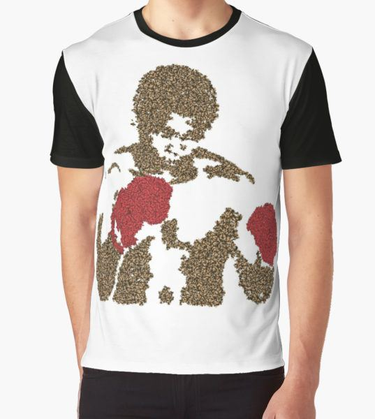 Muhammad Ali Inspired Art Made of Butterflies and Bees Graphic T-Shirt by Beermonkey T-Shirt
