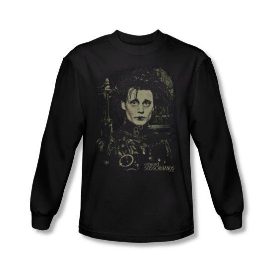 Edward Scissorhands Shirt Edward Long Sleeve Black Tee T-Shirt