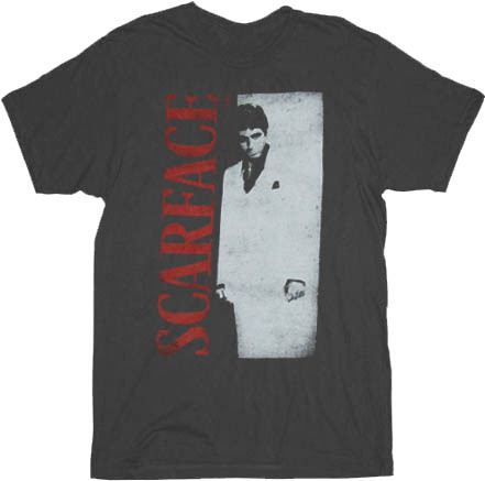 Scarface Distressed Poster Charcoal Adult T-shirt