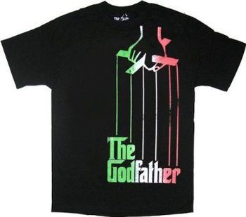 The Godfather Italian Flag Colors Puppeteer Black T-Shirt