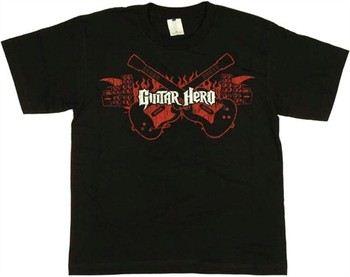 Guitar Hero Flaming Guitars Youth T-Shirt