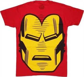 Marvel Comics Iron Man Huge Head T-Shirt Sheer