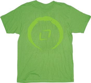 The Last Airbender Earth Clan Shamrock Green Adult T-Shirt