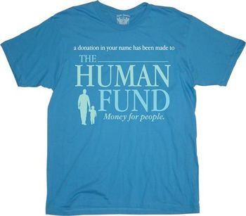 Seinfeld Human Fund Money For People T-shirt