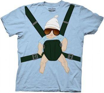 The Hangover Alan Baby Carrier Light Blue T-shirt