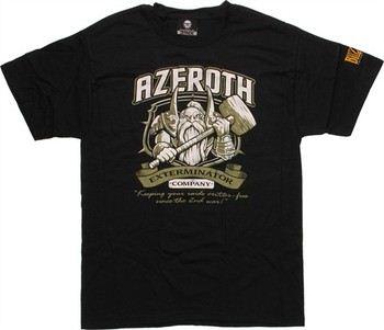 World of Warcraft Azeroth Exterminator Company by Blizzard T-Shirt