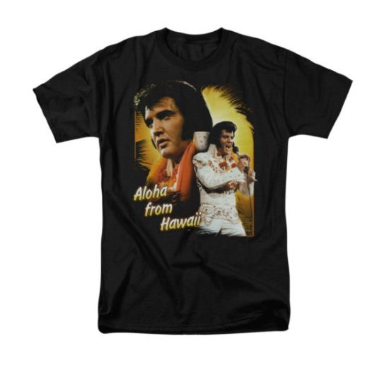 Elvis Presley Shirt Aloha Sing It Black T-Shirt