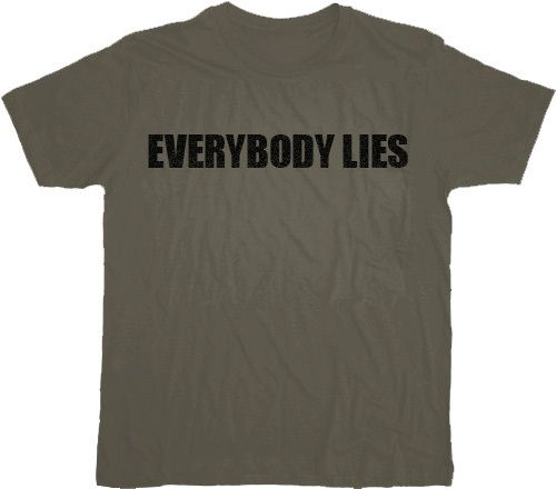 House M.D. Everybody Lies Charcoal T-shirt